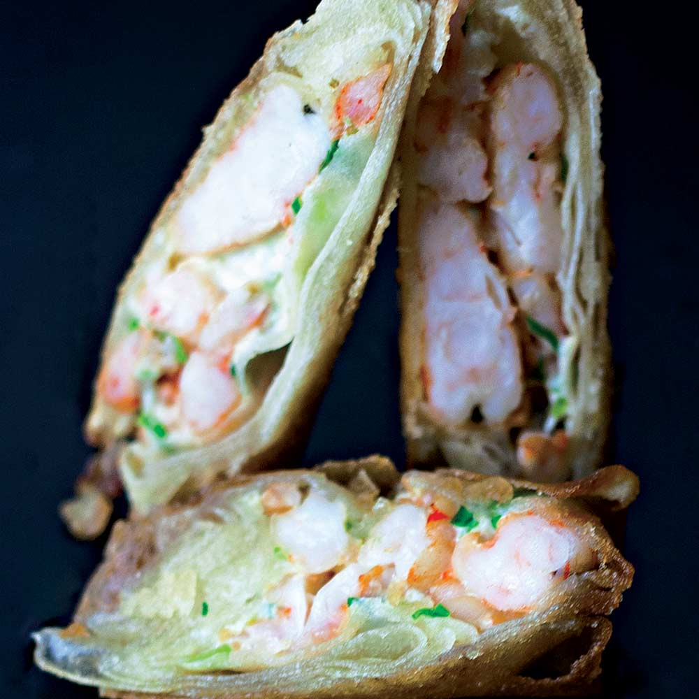 Harumaki de Camarão - Delivery Sushi Rão, o Maior do Brasil. O melhor da Comida Japonesa na sua casa!