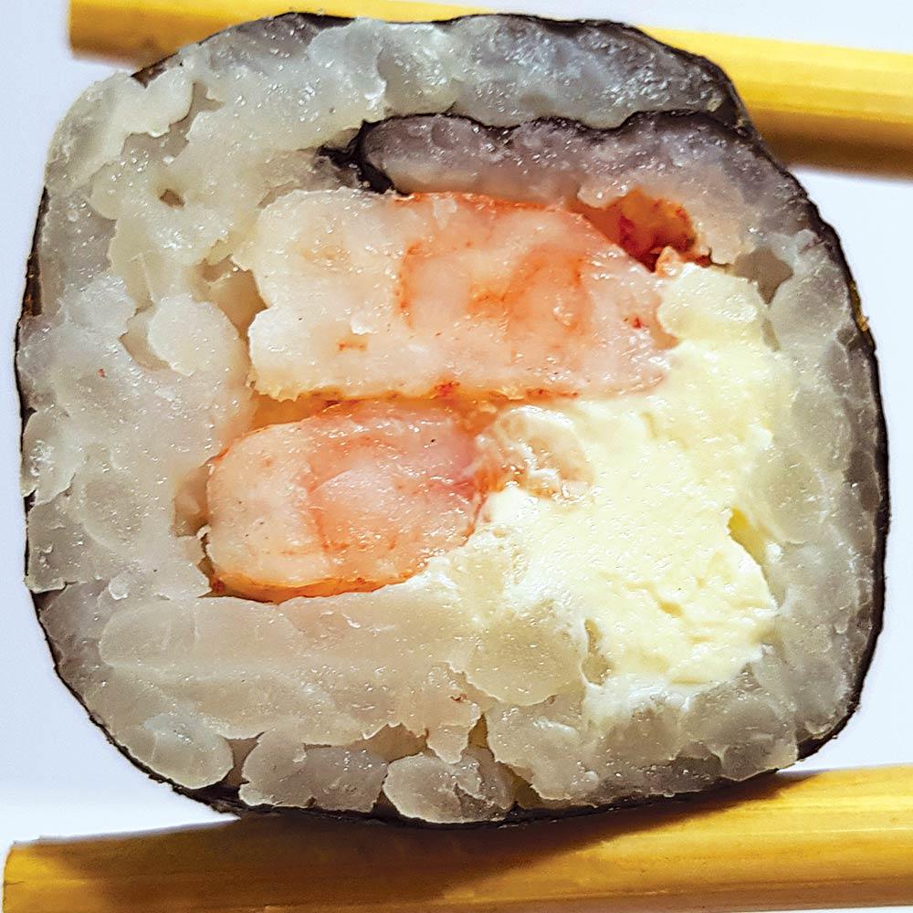 Roll Phila Ebi (Camarão) - Delivery Sushi Rão, o Maior do Brasil. O melhor da Comida Japonesa na sua casa!