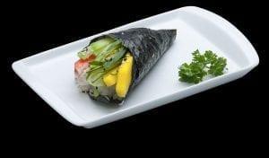 Temaki de California - Delivery Sushi Rão, o Maior do Brasil. O melhor da Comida Japonesa na sua casa!