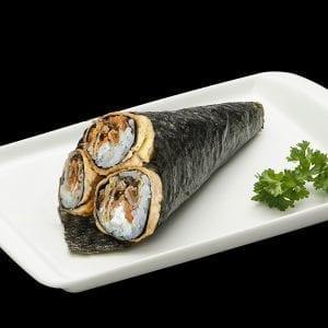Temaki de Hot Salmão Skin - Delivery Sushi Rão, o Maior do Brasil. O melhor da Comida Japonesa na sua casa!