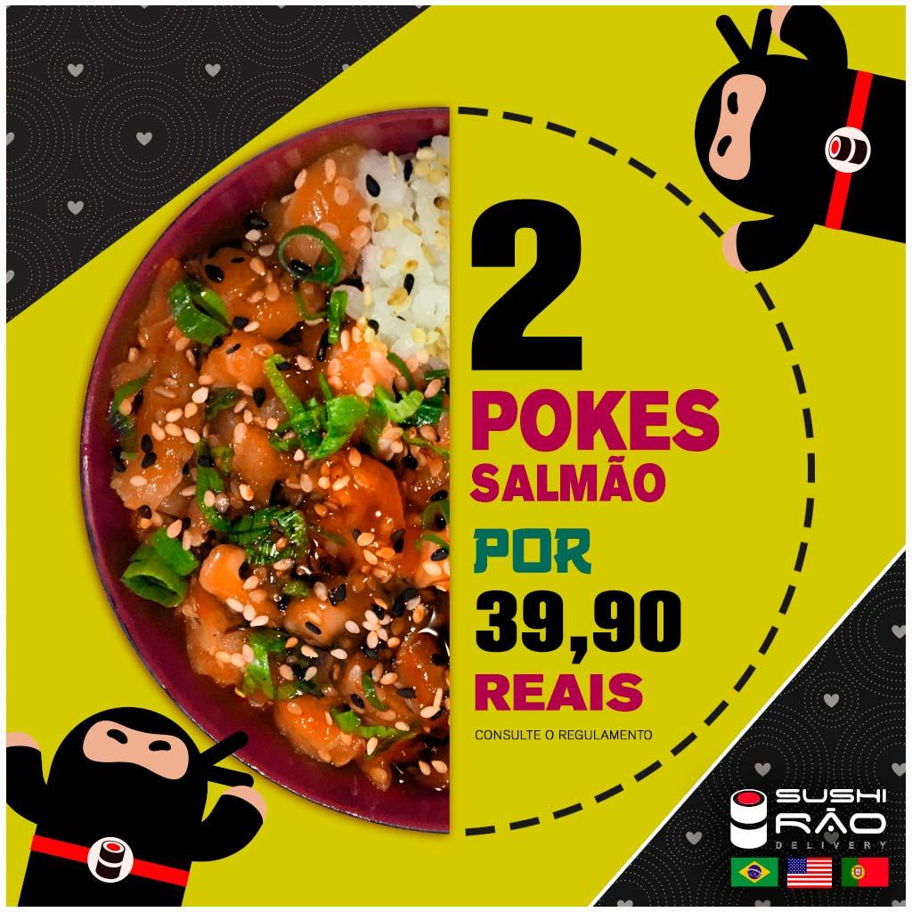 Promoção de Poke de Salmão - Delivery Sushi Rão, o Maior do Brasil. O melhor da Comida Japonesa na sua casa!