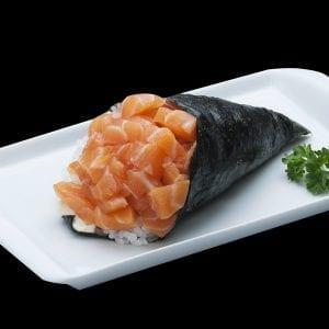Temaki de Salmão - Delivery Sushi Rão, o Maior do Brasil. O melhor da Comida Japonesa na sua casa!