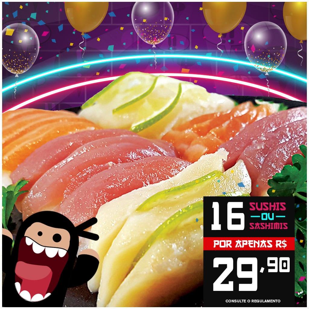 Promoção de Sushi e Sashimi - Delivery Sushi Rão, o Maior do Brasil. O melhor da Comida Japonesa na sua casa!