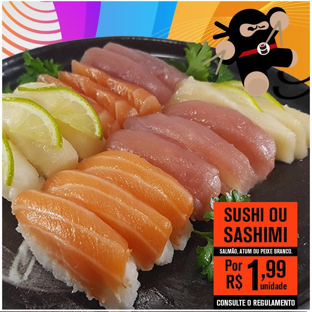 Promoção de Japonês Sushis e Sashimis - Delivery Sushi Rão, o Maior do Brasil. O melhor da Comida Japonesa na sua casa!